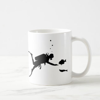 Buceo con escafandra taza de café