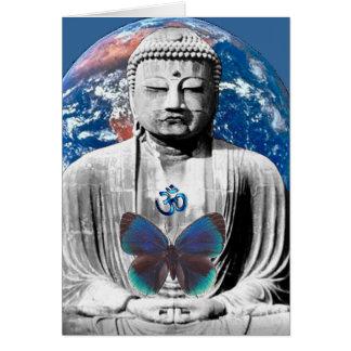 Buda aguarda la tarjeta de felicitación