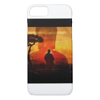 Buda con el fondo de la puesta del sol funda iPhone 7