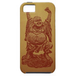 Buda de risa (rojo oscuro) iPhone 5 Case-Mate coberturas