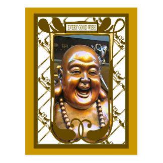 Buda de risa postales