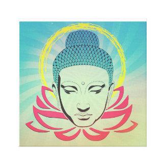 Buda en Lotus Impresión En Lienzo