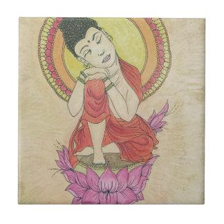 Buda pacífico azulejo