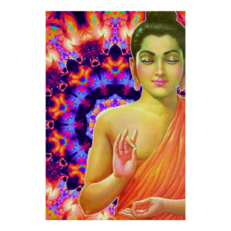 Buda psicodélico póster