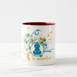 Buda sea atento taza de café de dos colores