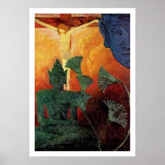 Buda y Cristo - pintura del vintage de Paul Ranson Impresiones