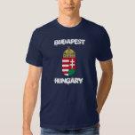 Budapest, Hungría con el escudo de armas Camisetas