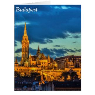 Budapest, Hungría Tarjeta De Felicitación Grande