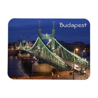 Budapest - puente de la libertad iman rectangular