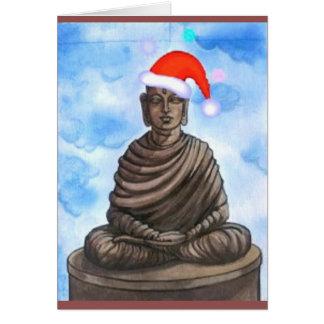 Buddhism - Buda - gorra de las Felices Navidad Tarjeta De Felicitación
