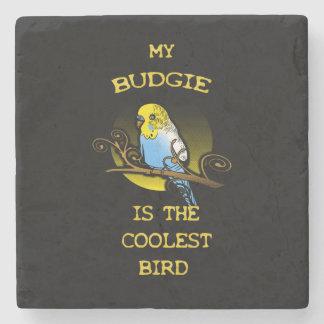 Budgie es el pájaro más fresco posavasos de piedra