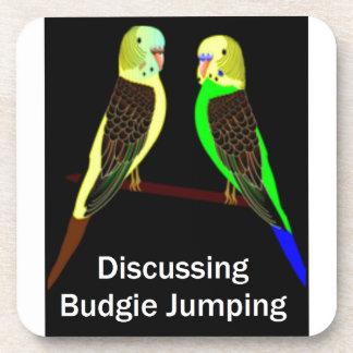 Budgies que discute el salto de Budgie Portavasos