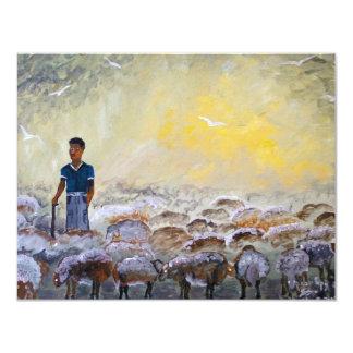 Buen pastor de Israel, reproducción de la pintura Invitación 10,8 X 13,9 Cm