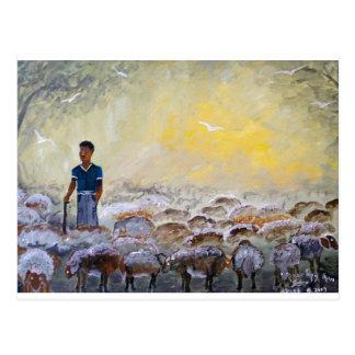 Buen pastor de Israel, reproducción de la pintura Postal