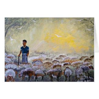 Buen pastor de Israel, reproducción de la pintura Tarjeta De Felicitación