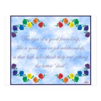 Buena amistad postal