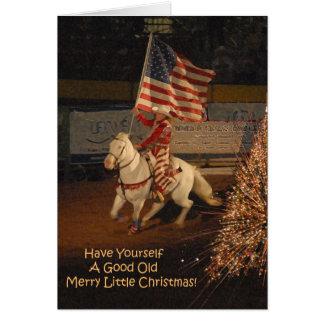 Buena feliz pequeña tarjeta de Navidad