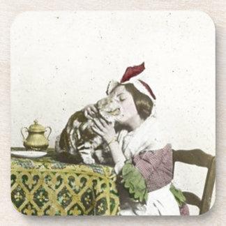 Buena fiesta del té del Victorian del vintage del Posavasos