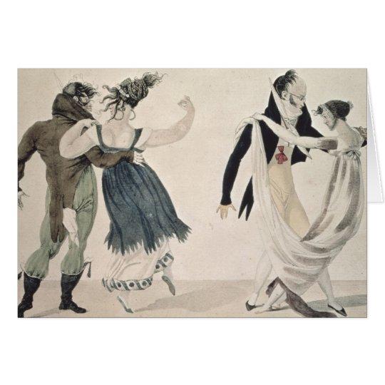 Buena forma, no. 1: El vals, dibujo animado Tarjeta De Felicitación