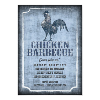 Buena invitación envejecida del pollo de la moda invitación 12,7 x 17,8 cm