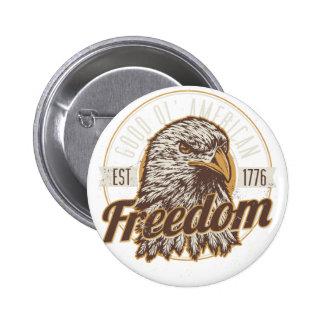 Buena libertad americana de Ol (vintage) Chapa Redonda De 5 Cm