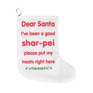 buena media del shar-pei calcetín navideño grande