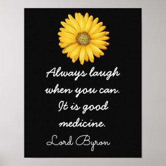 Buena medicina de la risa -- Arte Print_ del _