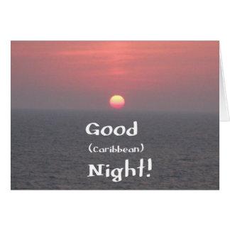 ¡Buena noche del Caribe Tarjetas