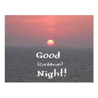 ¡Buena noche del Caribe Tarjetas Postales