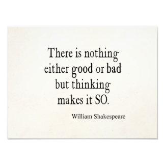 Buena o mala de Shakespeare cita de pensamiento na Foto