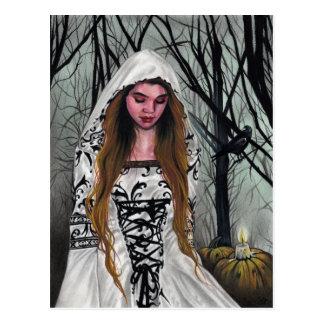 Buena postal de Halloween de la bruja