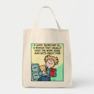Buena secretaria bolsa tela para la compra