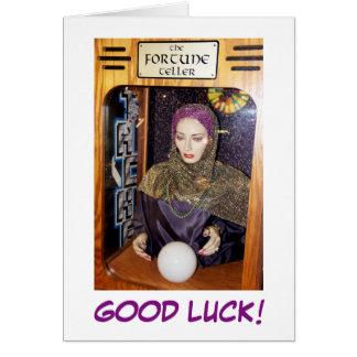 ¡Buena suerte! Tarjeta de felicitación
