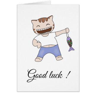 Buena suerte - tarjeta de felicitación