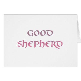 Buena tarjeta de felicitación del pastor