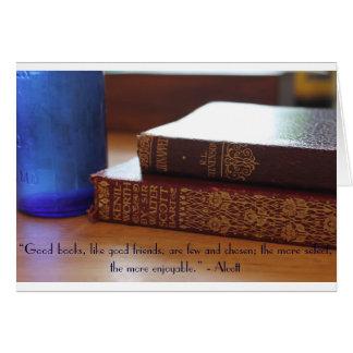 Buena tarjeta de la cita de los libros