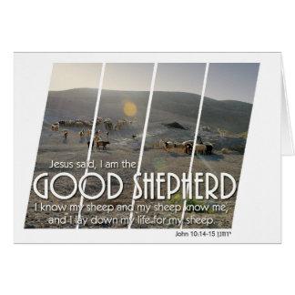Buena tarjeta del pastor