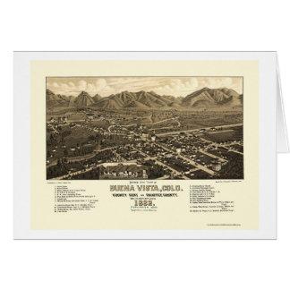 Buena Vista, mapa panorámico del CO - 1882 Tarjetón