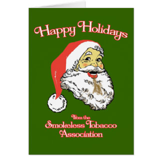 Buenas fiestas - asociación del tabaco sin humo tarjeta de felicitación