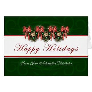 Buenas fiestas - de distribuidor automotriz tarjeta de felicitación