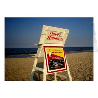 Buenas fiestas de la playa tarjeta