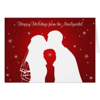 ¡Buenas fiestas de los recienes casados! Tarjeta De Felicitación