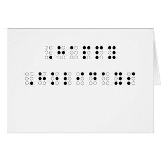Buenas fiestas en Braille Tarjeta De Felicitación