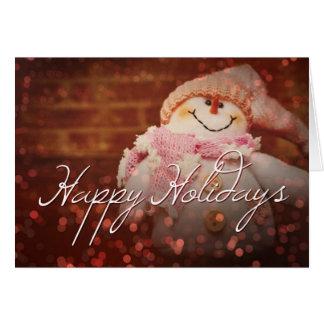 Buenas fiestas escarchado la tarjeta de Navidad