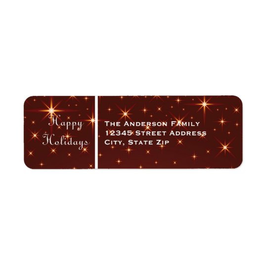 Buenas fiestas estrellas - etiqueta de dirección