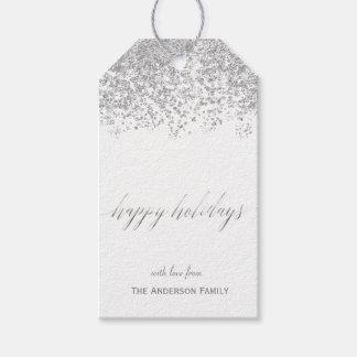 Buenas fiestas etiquetas de plata del regalo del etiquetas para regalos