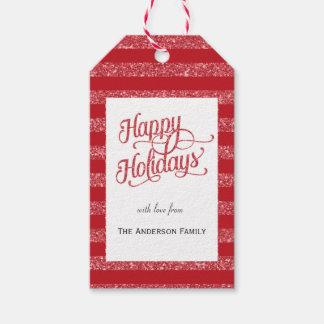 Buenas fiestas etiquetas rojas del regalo del etiquetas para regalos