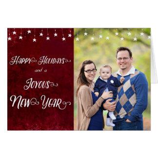 Buenas fiestas/foto feliz del Año Nuevo Tarjeta De Felicitación