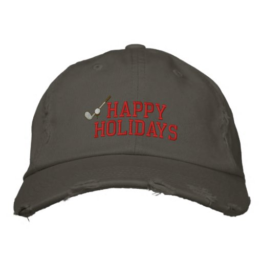 Buenas fiestas gorra bordado golf gorras bordadas