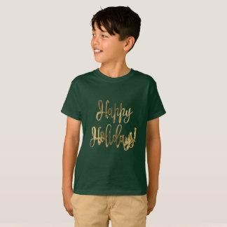 ¡Buenas fiestas! Navidad de la tipografía del oro Camiseta